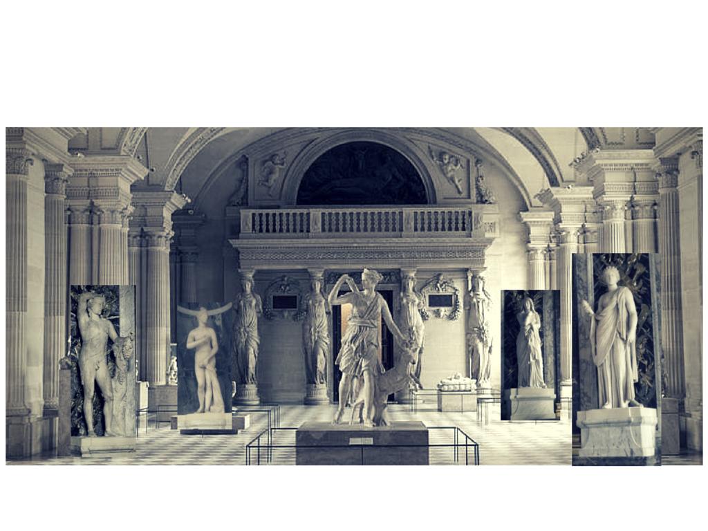 vue imaginaire de la Salle des Antiques sous Henri IV, ©MD
