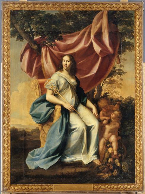 Jean Dubois, La Félicité (portrait d'Anne d'Autriche), 1642, ©RMN
